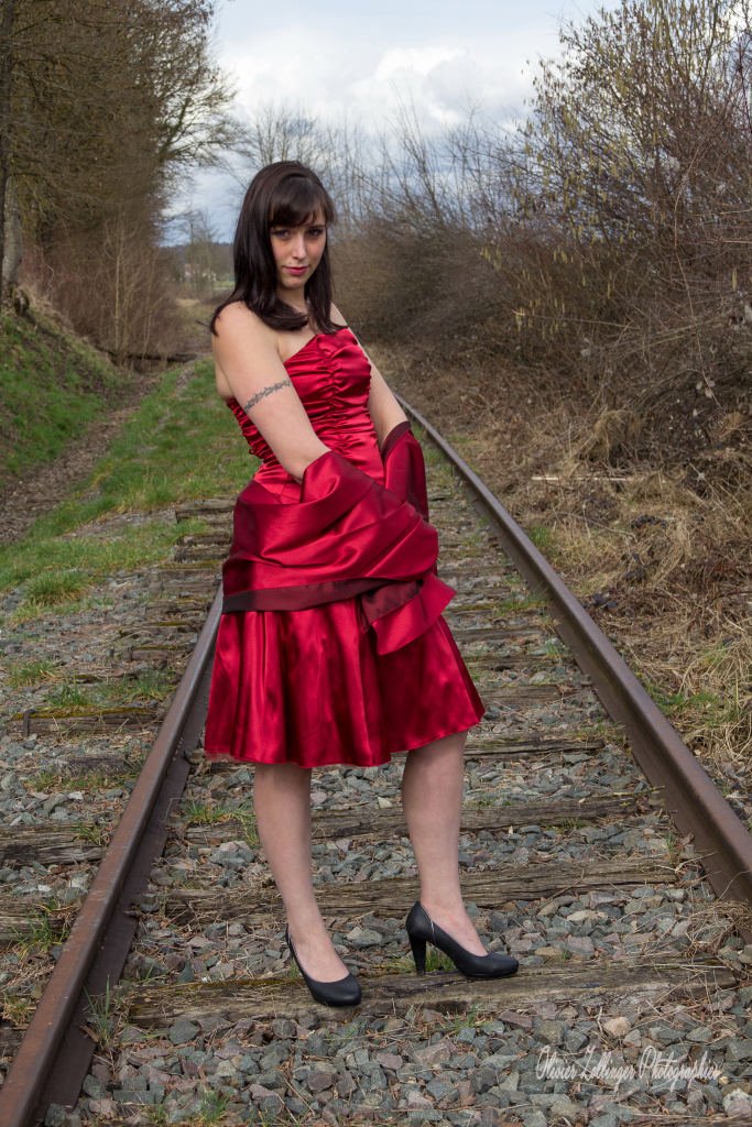 Shooting Ophélie voie de chemin de fer 2015